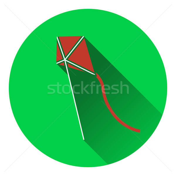 Flat design icon of kite in sky ui colors Stock photo © angelp