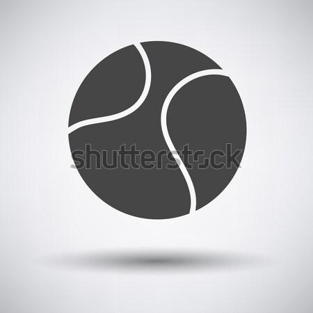 Tennisbal icon grijs sport ontwerp groene Stockfoto © angelp