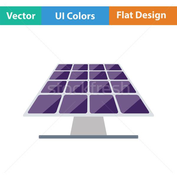 Zonne-energie paneel icon kleur ontwerp zon Stockfoto © angelp
