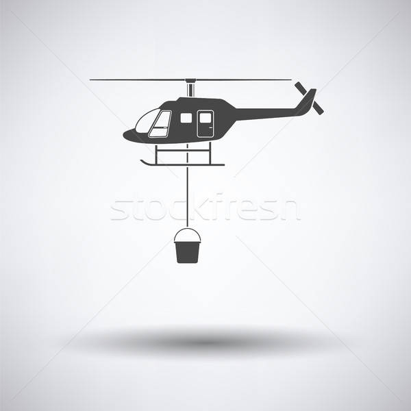 Fire service helicopter icon Stock photo © angelp
