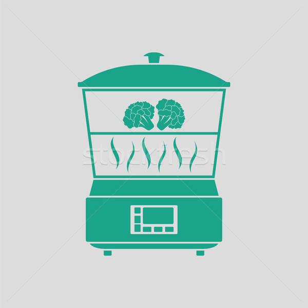 Kitchen steam cooker icon Stock photo © angelp
