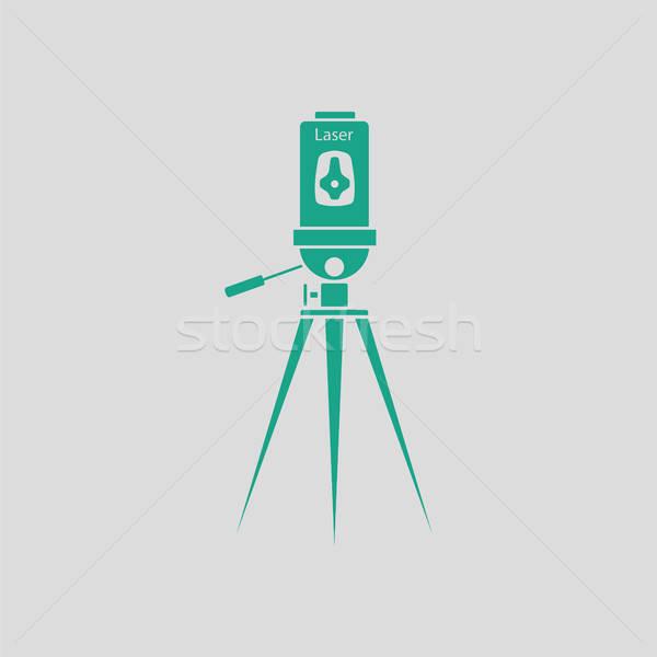 Lézer szint szerszám ikon szürke zöld Stock fotó © angelp