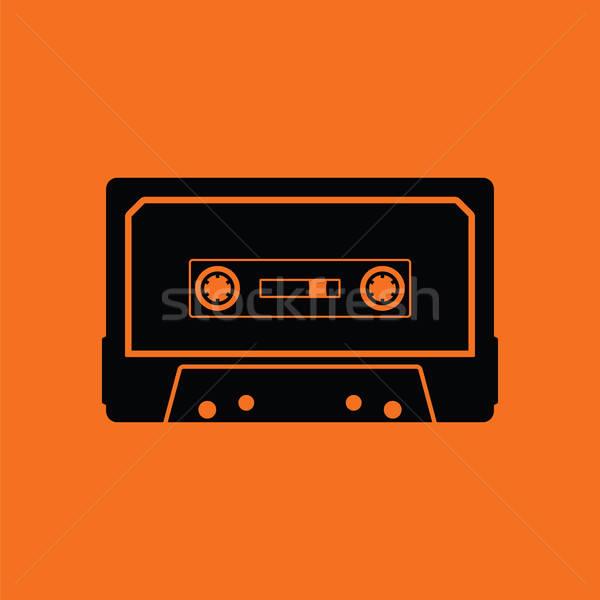 オーディオ カセット アイコン オレンジ 黒 音楽 ストックフォト © angelp