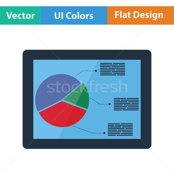 Stock photo: Tablet with analytics diagram icon