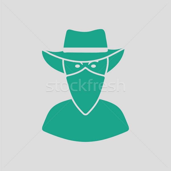 Cowboy with a scarf on face icon Stock photo © angelp