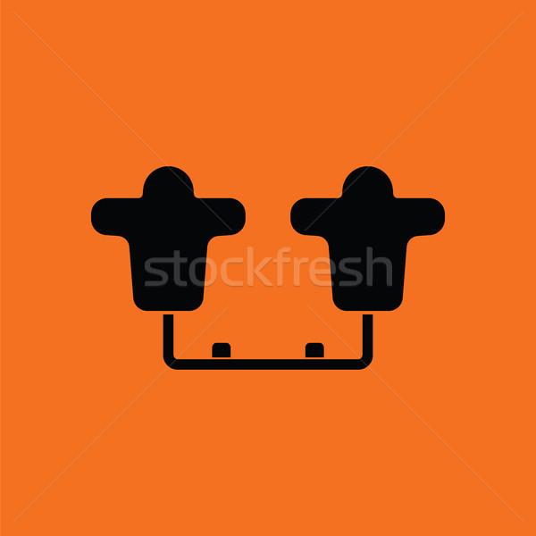 American football  tackling sled icon Stock photo © angelp