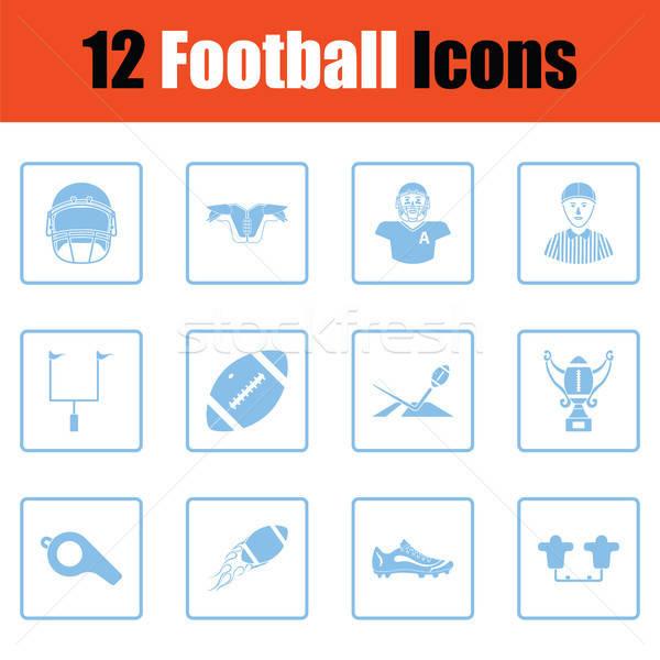 Americano fútbol icono azul marco diseno Foto stock © angelp