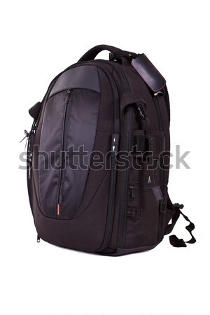 Black photo knapsack Stock photo © angelp