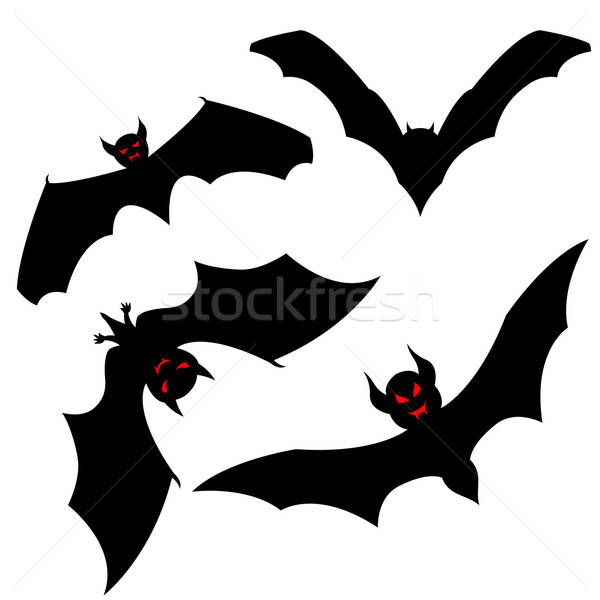 bat set Stock photo © angelp