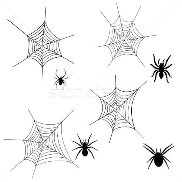 Stok fotoğraf: örümcek · net · ayarlamak · halloween · siyah · dizayn