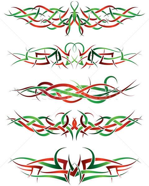 Tatouages modèles tribales tatouage design Photo stock © angelp
