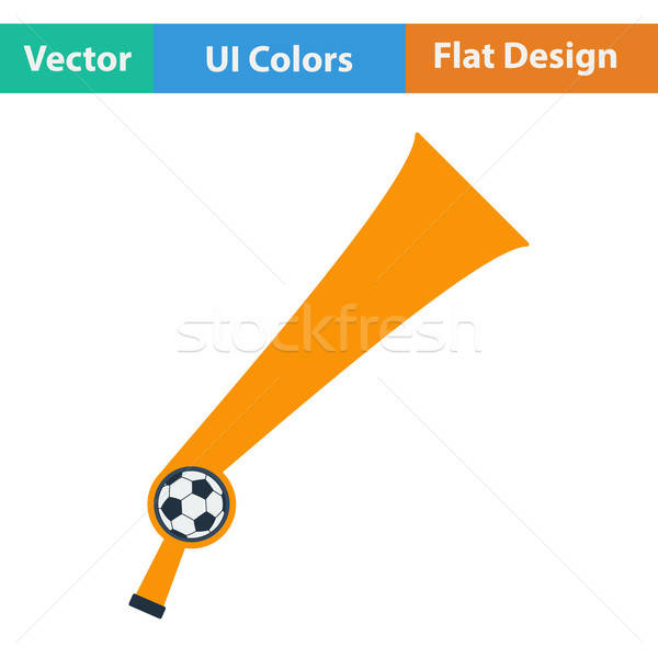 Football fans wind horn toy icon.  Stock photo © angelp