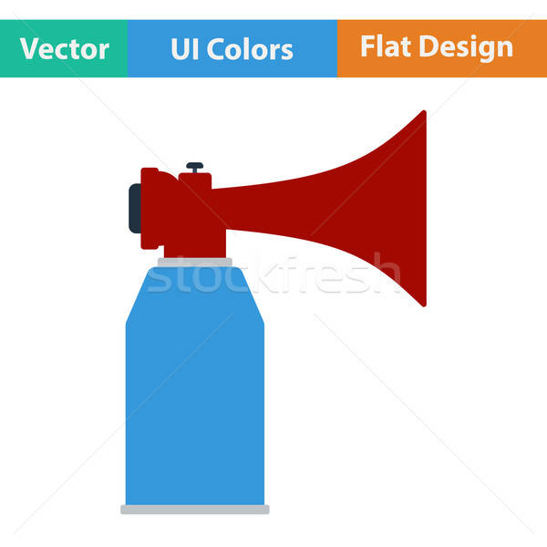 Football fans air horn aerosol icon.  Stock photo © angelp
