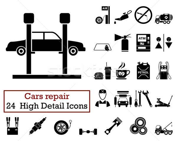 Set of 24 Car repair Icons Stock photo © angelp