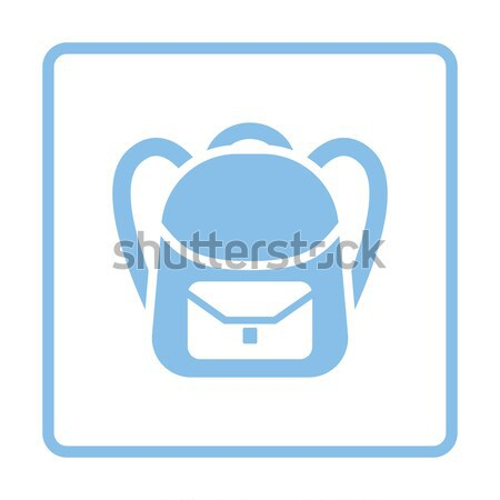 Flat design icon of School rucksack in ui colors Stock photo © angelp