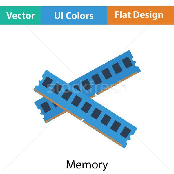 Computador memória ícone cor projeto indústria Foto stock © angelp