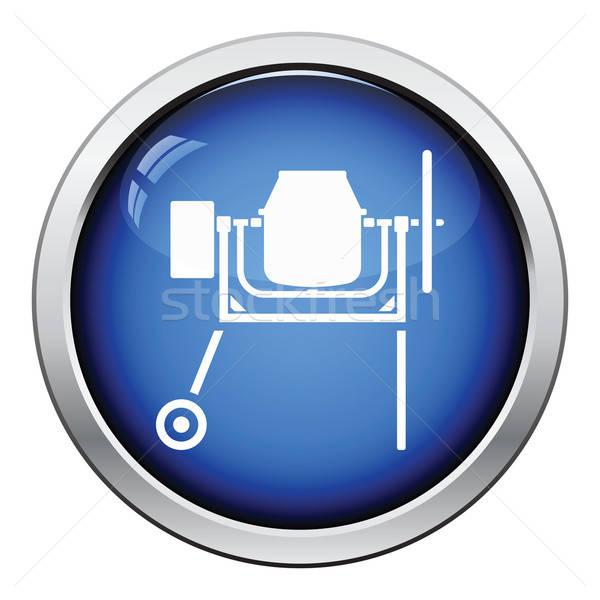 икона конкретные смеситель кнопки дизайна Сток-фото © angelp