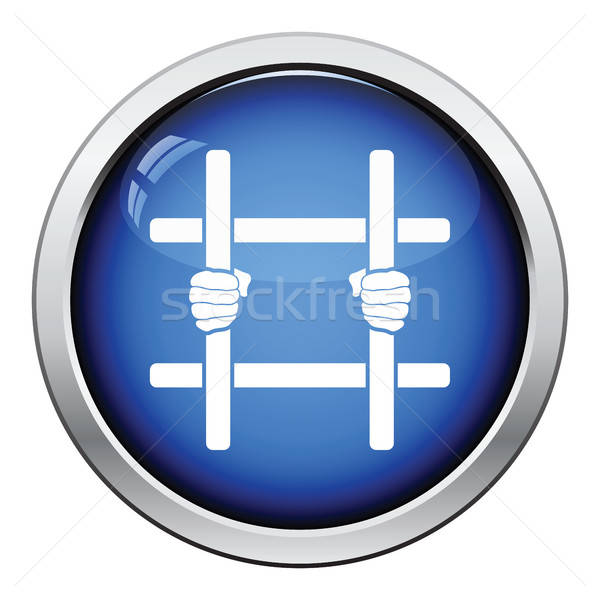 Hands holding prison bars icon Stock photo © angelp