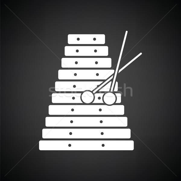 木琴 アイコン 黒白 コンサート おもちゃ 黒 ストックフォト © angelp