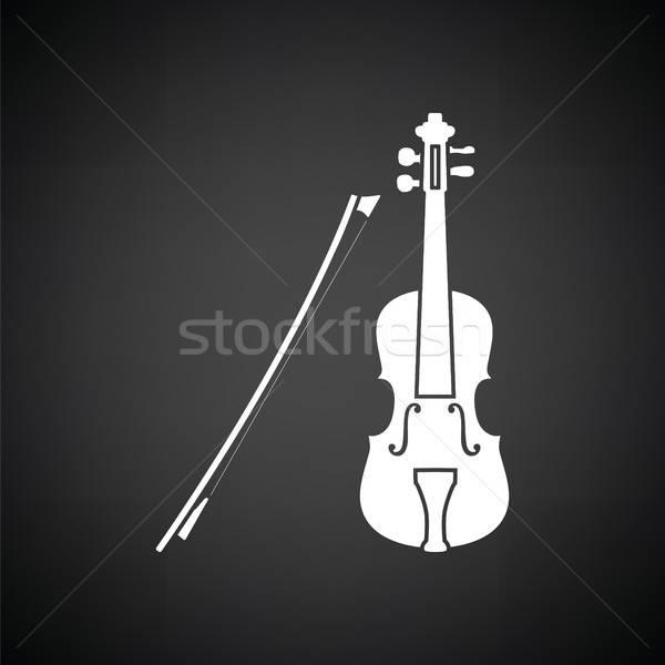 Violin icon Stock photo © angelp