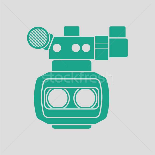 3d movie camera icon Stock photo © angelp