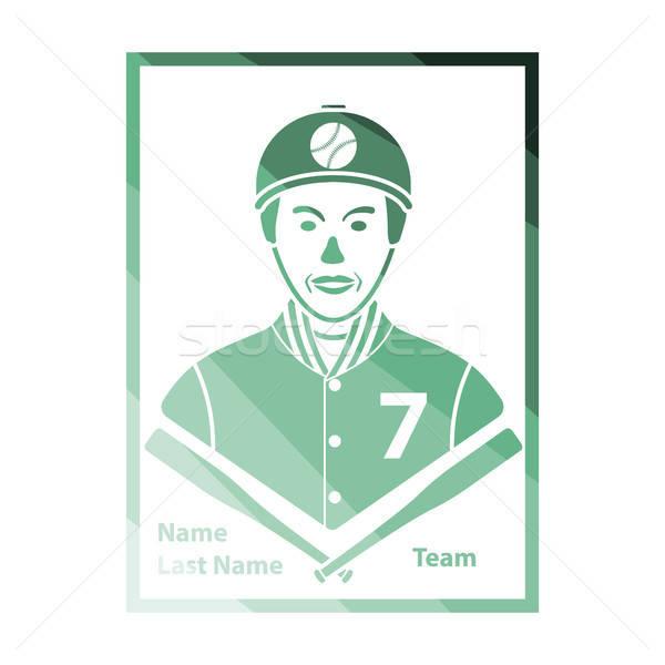Baseball karty ikona kolor projektu podpisania Zdjęcia stock © angelp