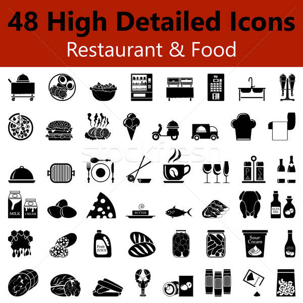 Restaurant and Food Smooth Icons Stock photo © angelp