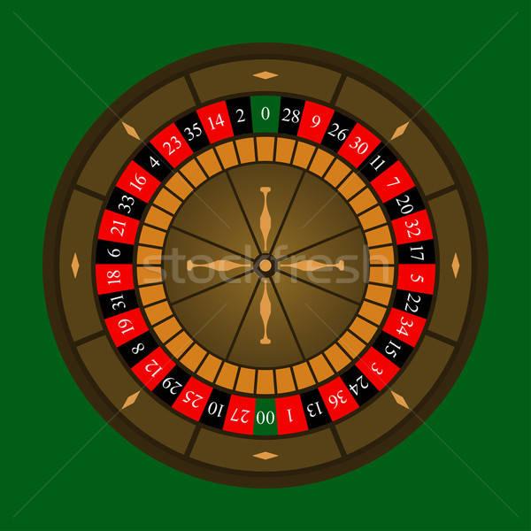 Roleta ícone verde dinheiro diversão vermelho Foto stock © angelp