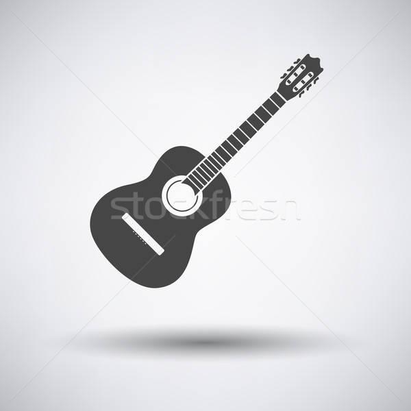 икона серый музыку гитаре лет Сток-фото © angelp