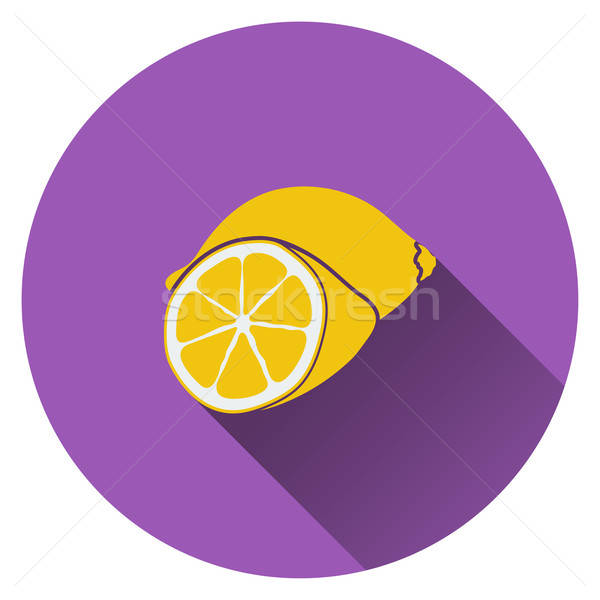 Lemon icon Stock photo © angelp