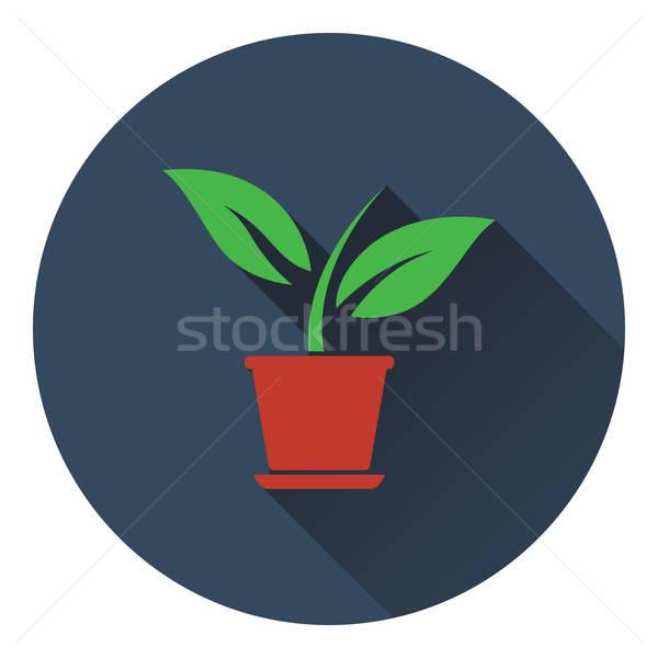 Plantă ghiveci de flori icoană copac natură grădină Imagine de stoc © angelp