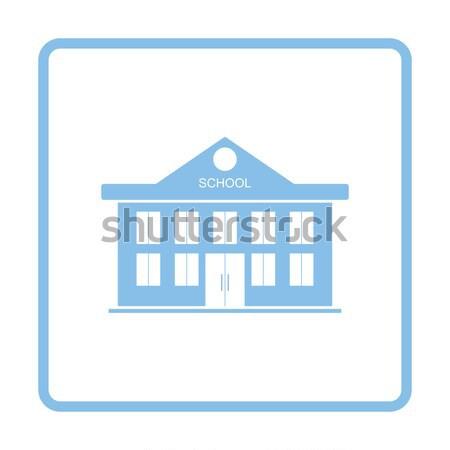 Icon of School building Stock photo © angelp