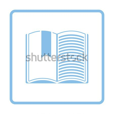 Icon of Open book with bookmark Stock photo © angelp