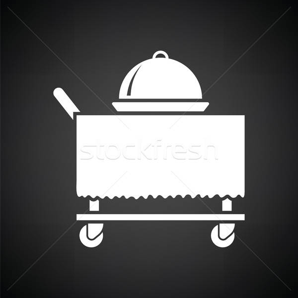 Restaurant  cloche on delivering cart icon Stock photo © angelp