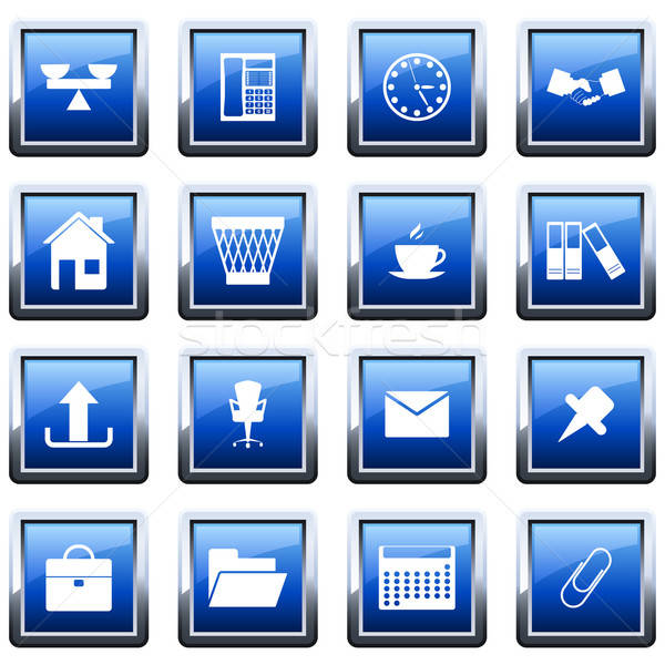 Stock photo: business and office icon set