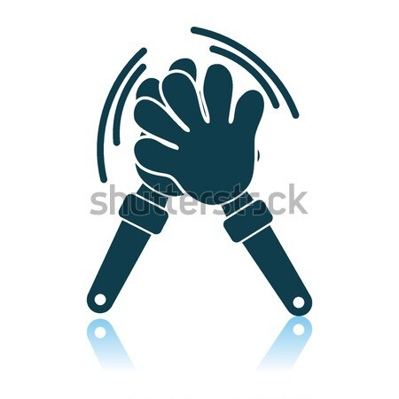 Football fans clap hand toy icon.  Stock photo © angelp