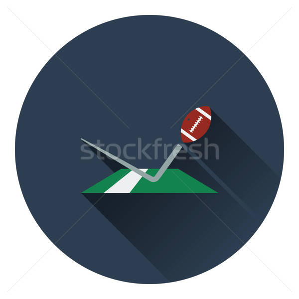 American football touchdown icon Stock photo © angelp