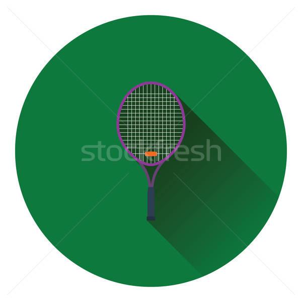 Racchetta da tennis icona colore design legno sport Foto d'archivio © angelp