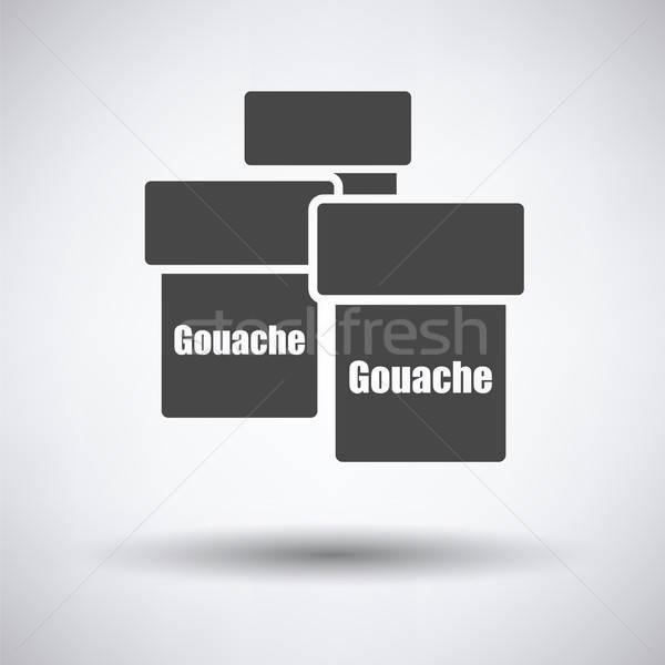 Stock photo: Gouache can icon