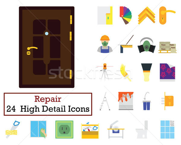 Set of 24 Housing repairs Icons Stock photo © angelp