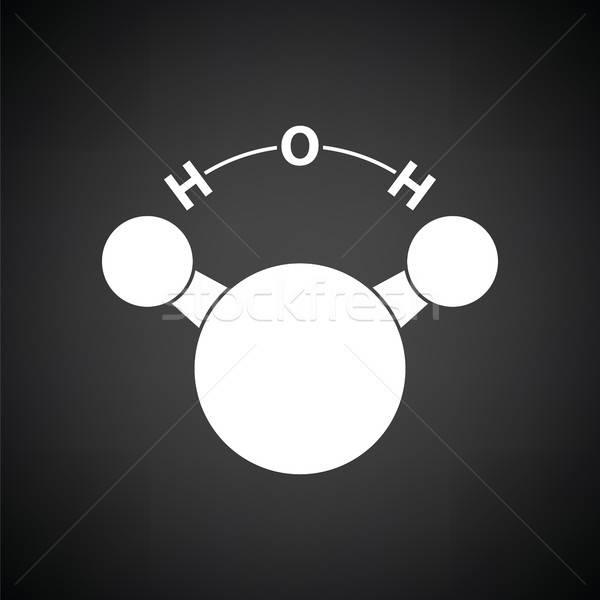 Icon chemische water zwart wit medische technologie Stockfoto © angelp