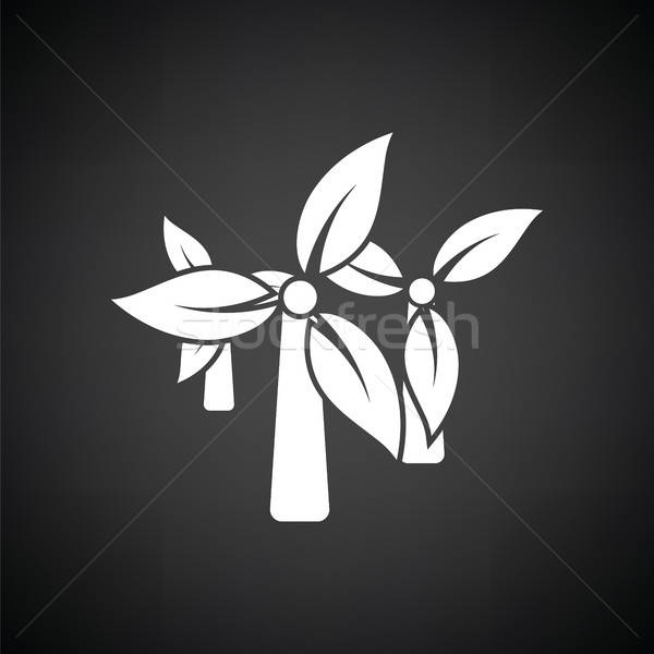 Wind mill leaves in blades icon Stock photo © angelp