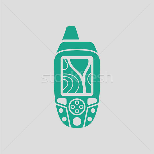Portable GPS device icon Stock photo © angelp