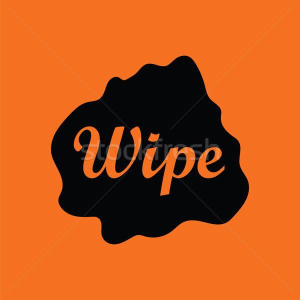 Silme bez ikon turuncu siyah çalışmak Stok fotoğraf © angelp
