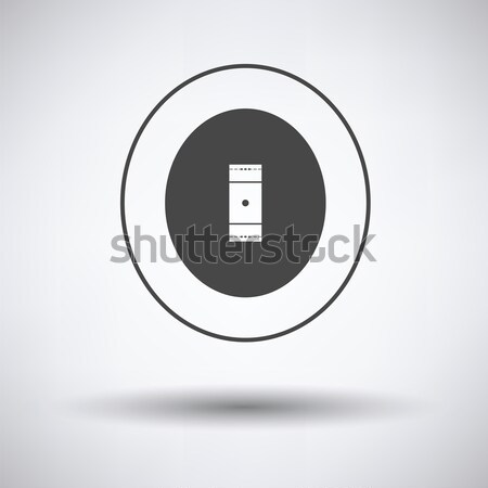 Críquete campo ícone cinza fundo arte Foto stock © angelp