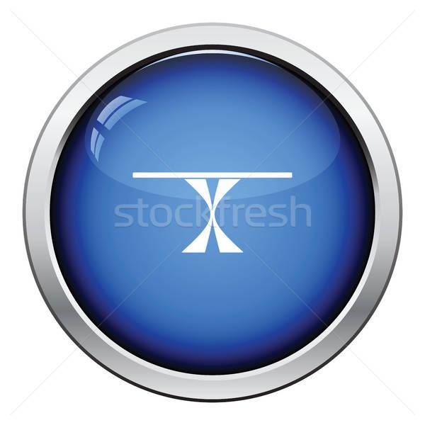 Mesa de jantar ícone botão projeto cozinha Foto stock © angelp