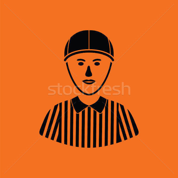 Amerikan futbol hakem ikon turuncu siyah Stok fotoğraf © angelp