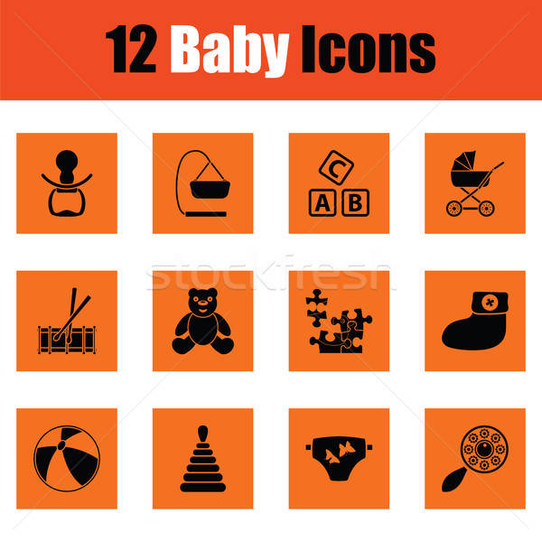 Set of baby icons Stock photo © angelp