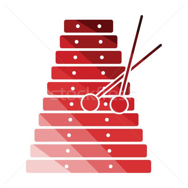 Роге икона цвета дизайна аннотация мобильных Сток-фото © angelp