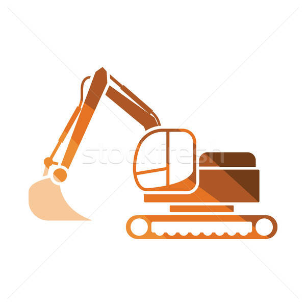 Icon of construction excavator Stock photo © angelp